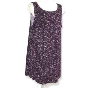 Logo Layers Lori Goldstein Tank Top Tunic Purple